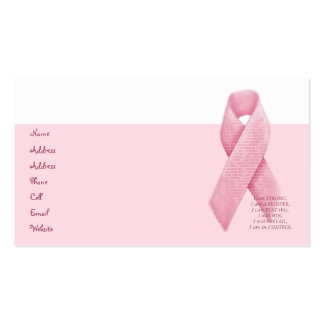 I AM, I CAN, I WILL - Pink Ribbon Profile Card