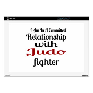 I Am In A Committed Relationship With Judo Fighter Laptop Decal