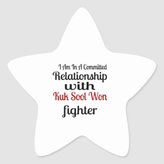 I Am In A Committed Relationship With Kuk Sool Won Star Sticker