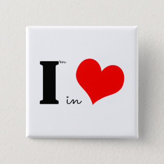 I Am In Love Button