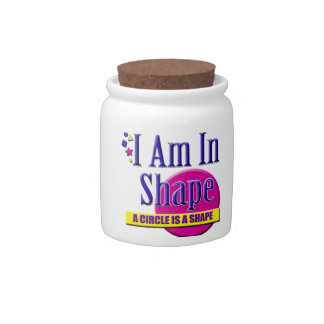 """I Am in Shape """"Fitness"""" Slogan Candy Dish"""