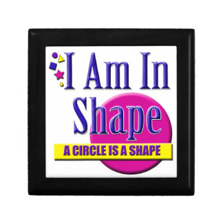 "I Am in Shape ""Fitness"" Slogan Trinket Boxes"