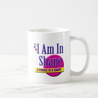 "I Am in Shape ""Fitness"" Slogan Coffee Mugs"