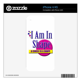 """I Am in Shape """"Fitness"""" Slogan iPhone 4S Skin"""