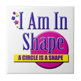 "I Am in Shape ""Fitness"" Slogan Tiles"