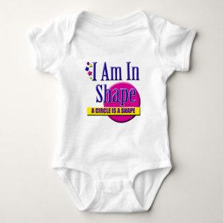 "I Am in Shape ""Fitness"" Slogan Tee Shirt"