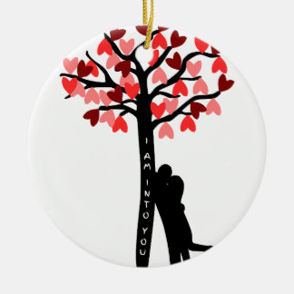 I am Into You valentine's day Double-Sided Ceramic Round Christmas Ornament