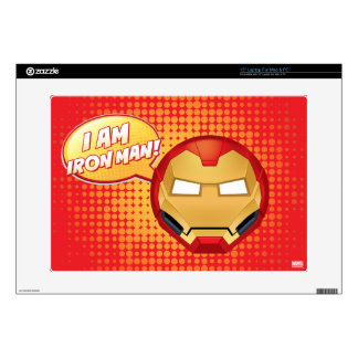 """I Am Iron Man"" Emoji Laptop Decals"