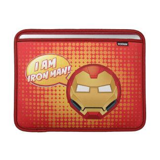 """I Am Iron Man"" Emoji MacBook Sleeve"