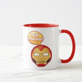"""I Am Iron Man"" Emoji Mug"