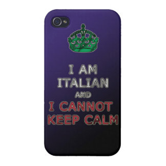 i am italian and i cannot keep calm funny phone cases for iPhone 4