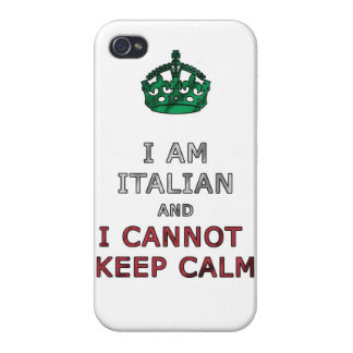 i am italian and i cannot keep calm funny phone iPhone 4/4S cases