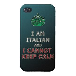 i am italian and i cannot keep calm funny phone iPhone 4/4S covers