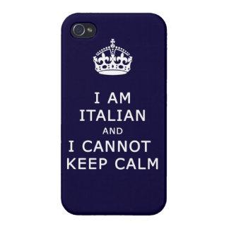i am italian and i cannot keep calm funny phone iPhone 4 covers