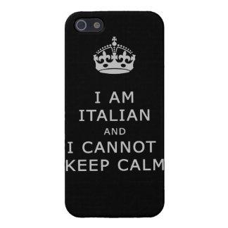 i am italian and i cannot keep calm funny phone iPhone SE/5/5s case