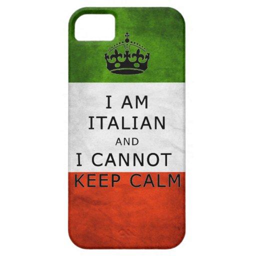 i am italian and i cannot keep calm phone case iPhone 5 cases