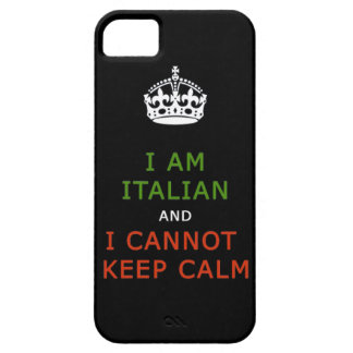 i am italian and i cannot keep calm phone case iPhone 5 case