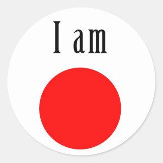 I am Japan Round Sticker