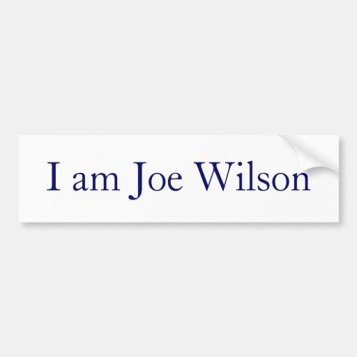 I am Joe Wilson Bumper Stickers