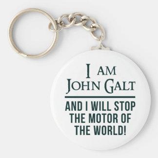 I Am John Galt Basic Round Button Keychain