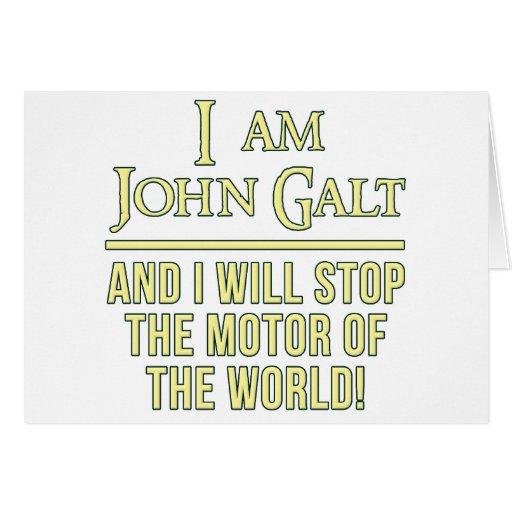 I Am John Galt Greeting Card