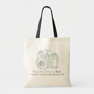 i am just a shutter in a flash tote bag