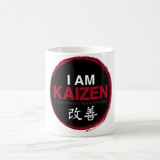 I Am Kaizen Logo - Continuous Improvement Basic White Mug