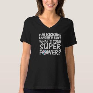 I am Kicking Thyroid Cancer's Butt Superpower Shirt