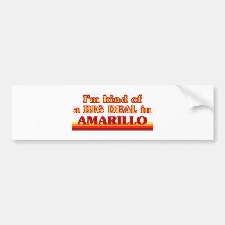 I am kind of a BIG DEAL in Amarillo Car Bumper Sticker