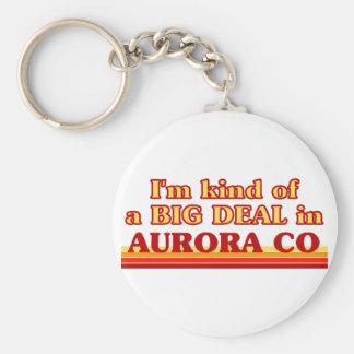 I am kind of a BIG DEAL in Aurora Basic Round Button Keychain