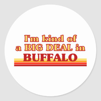 I am kind of a BIG DEAL in Buffalo Classic Round Sticker