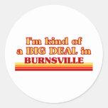 I am kind of a BIG DEAL in Burnsville Classic Round Sticker