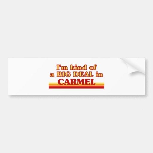 I am kind of a BIG DEAL in Carmel Bumper Stickers