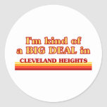 I am kind of a BIG DEAL in Cleveland Classic Round Sticker