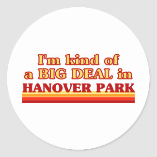 I am kind of a BIG DEAL in Hanover Park Stickers