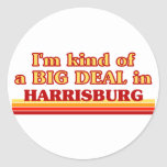 I am kind of a BIG DEAL in Harrisburg Classic Round Sticker