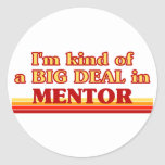 I am kind of a BIG DEAL in Mentor Round Stickers