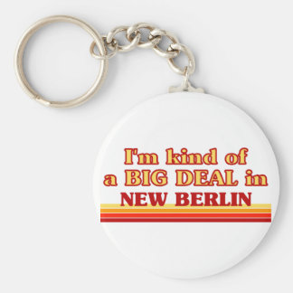 I am kind of a BIG DEAL in New Berlin Basic Round Button Keychain