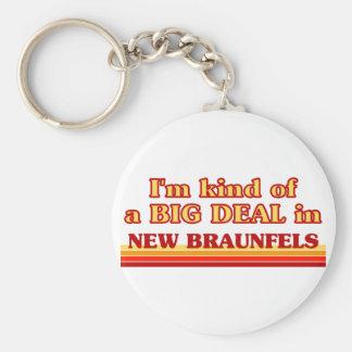 I am kind of a BIG DEAL in New Braunfels Basic Round Button Keychain