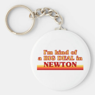 I am kind of a BIG DEAL in Newport News Basic Round Button Keychain