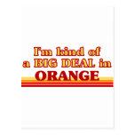 I am kind of a BIG DEAL in Orange Postcard