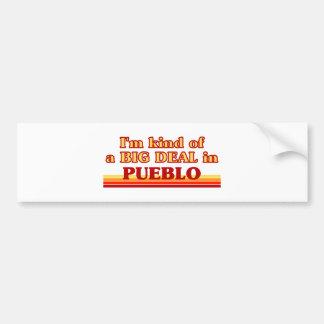 I am kind of a BIG DEAL in Pueblo Car Bumper Sticker