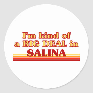 I am kind of a BIG DEAL in Salina Classic Round Sticker