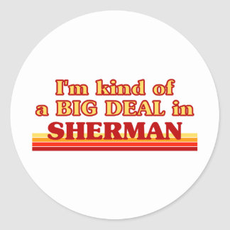 I am kind of a BIG DEAL in Sherman Round Stickers