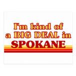 I am kind of a BIG DEAL in Spokane Postcard