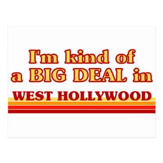 I am kind of a BIG DEAL in West Hollywood Postcard