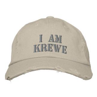 I AM KREWE Distressed Hat Embroidered Baseball Caps