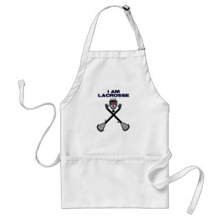 I am Lacrosse Cartoon Adult Apron