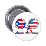I Am Latin American Boricua Pinback Buttons