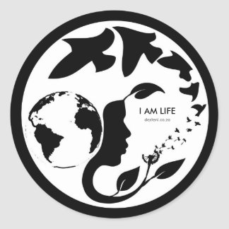 I AM LIFE Mon Crest Sticker